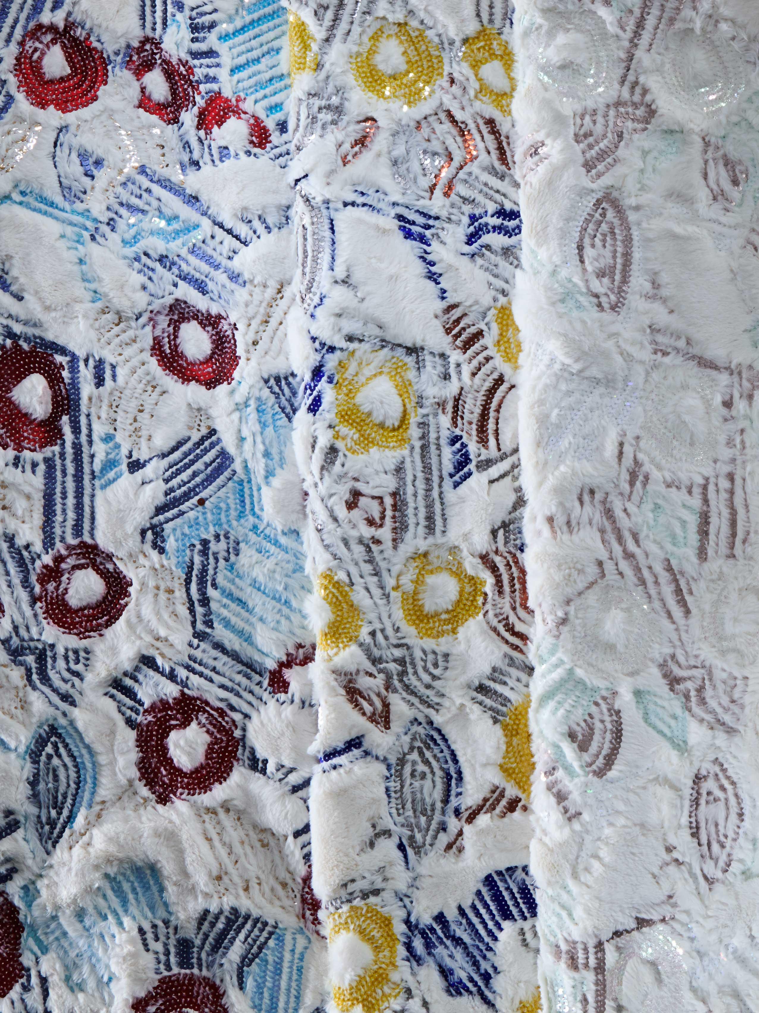 bernhard duss-jakob schlaepfer-textiledesign-tapeten-designer-custom made wallcovering-interiorfabrics-interior collection-embroidery-sequins