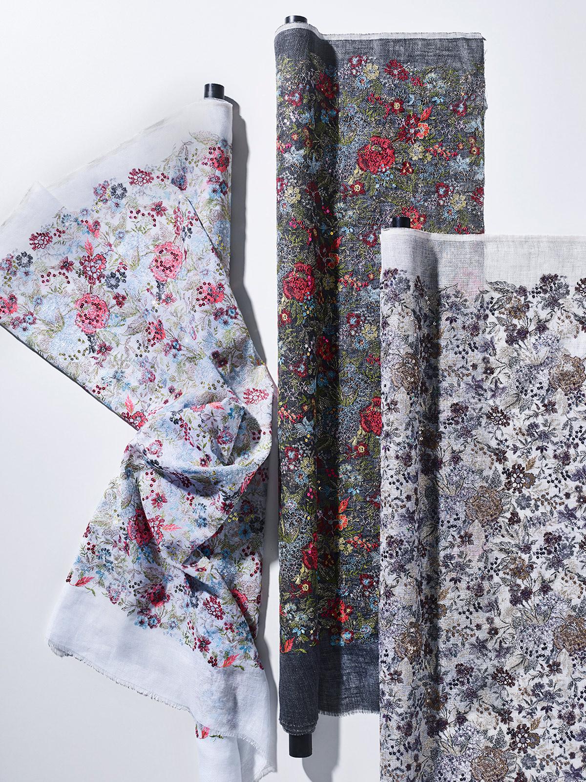 bernhard duss-jakob schlaepfer-colours-textiledesign-fabrics-designer-custom made fabrics-embroidery-embroidery on linen